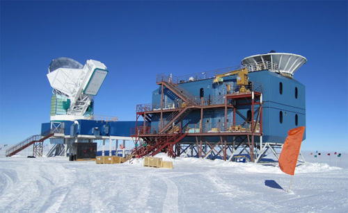 BICEP-2 detector at the South Pole